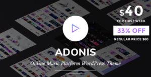 Adonis   Music Platform WordPress Theme