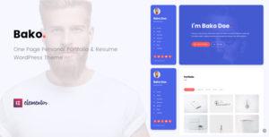 Bako - Personal Portfolio & Resume WordPress Theme