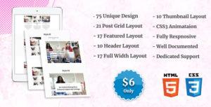 Blog Posts Layout CSS Showcase
