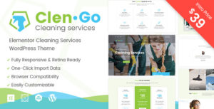 Clengo – Cleaning Services Elementor WordPress Theme