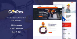 ConRex - Construction, Building PSD Template