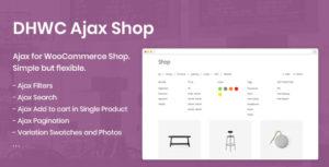DHWC Ajax - Enable Ajax pour WooCommerce Shop
