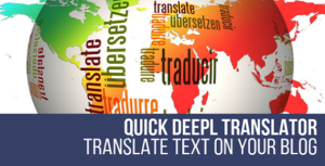 DeepL Quick Translator WordPress Plugin