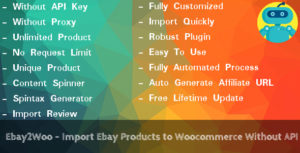 Ebay2Woo - importer des produits à Woocommerce sans API Ebay