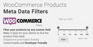 Filtres de méta-données WooCommerce Products