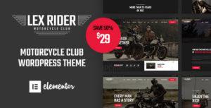LexRider - Motorcycle Club WordPress Theme For Biker Lovers