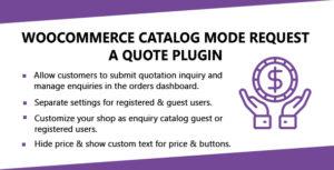 Mode WooCommerce catalogue demander un Plugin de citation