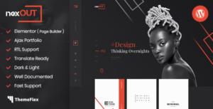Nexout - Elementor Ajax Portfolio WordPress Theme