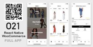 Réagir Native mode eCommerce App (WooCommerce + WordPress)