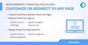WooCommerce Merci Page Plugin, personnaliser ou rediriger vers n'importe quelle page