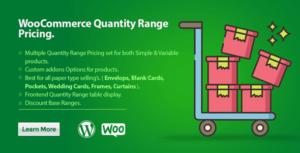 WooCommerce quantité gamme de prix