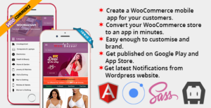 Woobazaar application mobile complète pour Woocommerce Ionic 3