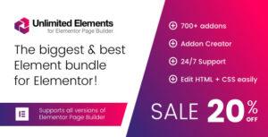 Éléments illimités pour Elementor Page Builder