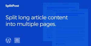 Épopée Split Post - Post Content Splitter comme curseur / Smart liste avec Ajax Pagination WordPress Plugin