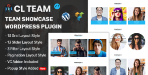 Équipe CL-plugin WordPress Team Showcase