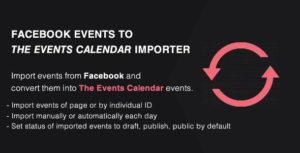 Événements importateur de Facebook à l'Addon de calendrier des événements - PRO