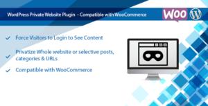Banque privée WooCommerce & site privé Wordpress Plugin