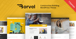 Borvel - Construction Building Company WordPress Theme