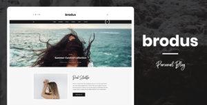 Brodus - Personal Blog PSD Template