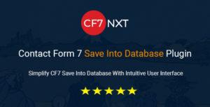 CF7NXT-formulaire de contact 7 enregistrer dans la base de données plugin