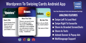 CardPress-blagues-citations-nouvelles-app Android pour WordPress
