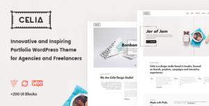Celia - Innovative and Inspiring Portfolio WordPress Theme for Modern Agencies and Freelancers