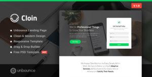 Cloin - Business Unbounce Landing Page Template