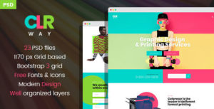 Colorway - Printing & Type Design Services PSD Template
