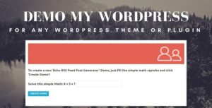 Demo My WordPress - Temporary WordPress Install Creator