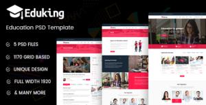 Eduking - Education PSD Template