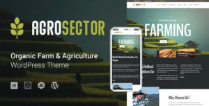 Elementor Agriculture & Organic Food WordPress Theme - Agrosector