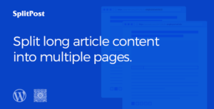 Epic Split Post - Post Content Splitter as Slider / Smart List with Ajax Pagination WordPress Plugin