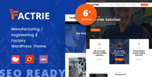 Factrie - Manufacturing / Engineering & Factory WordPress Theme