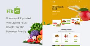 Fikza - Woocommerce Shop PSD Template