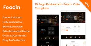 Foodin - Restaurant & Cafe Responsive HTML Template