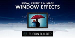 Fusion Builder Snow, particule & image effets de fenêtre pour Avada v5