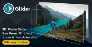 Glider 3D Photo Slider WordPress Plugin v1.8