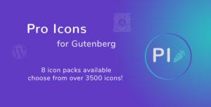 Icônes Pro pour Gutenberg WordPress Editor