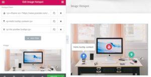 Image Hotspot avec ToolTip widgets pour Elementor Page Builder WordPress plugin