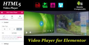 Lecteur vidéo pour Elementor
