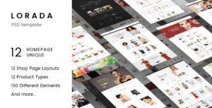 Lorada - Multipurpose eCommerce PSD Template