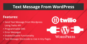 Message texte de WordPress site Web