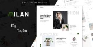 Milan - Ultimate Personal Blog PSD Template