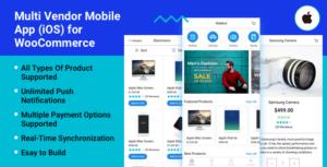 Multi fournisseur Mobile App (iOS) pour WooCommerce