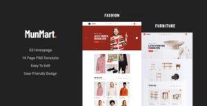 Munmart - Minimal eCommerce PSD Template