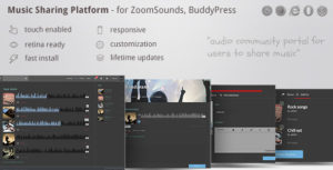 Music Sharing Platform - for Wordpress / ZoomSounds Addon, BuddyPress integrated