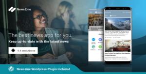 NewsZine - A complete News / Magazine App, Wordpress Supported.