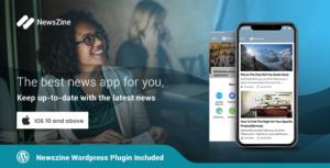 NewsZine - iOS | A complete News / Magazine App | Wordpress Plugin Included