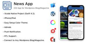Nouvelles App-iOS App pour WordPress blog/magazine