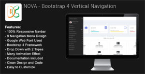Nova - Bootstrap 4 Sidebar Navigation